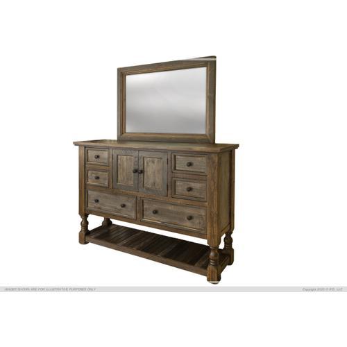 6 Drawers, 2 Doors Dresser
