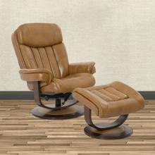 Product Image - PRINCE - BUTTERSCOTCH Manual Reclining Swivel Chair and Ottoman