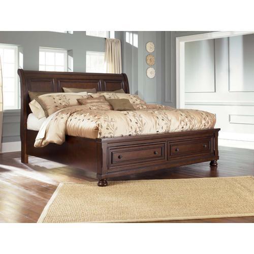 Porter Cal King Storage Bed Rustic Brown