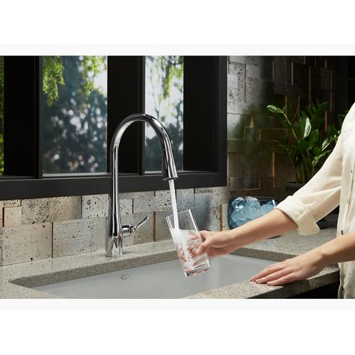 Vibrant Stainless Touchless Pull-down Kitchen Sink Faucet