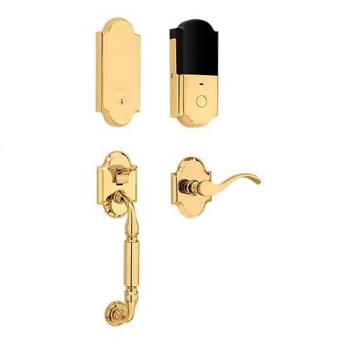 Non-Lacquered Brass Canterbury Touchscreen Dummy Handleset