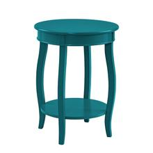 Teal Rainbow Round Table With Shelf
