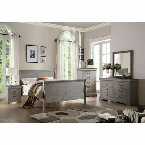 ACME Louis Philippe III Queen Bed - 25500Q - Antique Gray