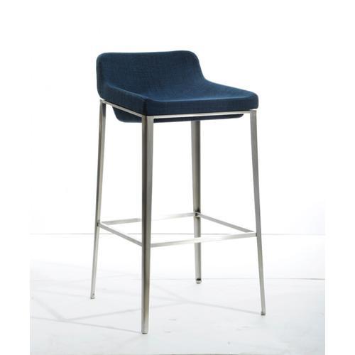 Gallery - Modrest Adhil Modern Blue Fabric Bar Stool