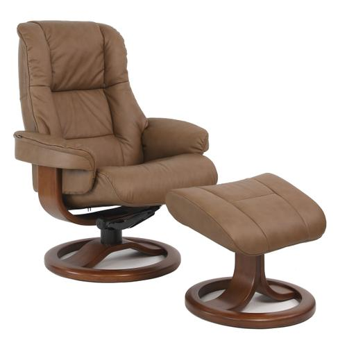 Loen R Manual Small Recliner With Footstool