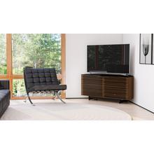View Product - Corridor 8175 Corner Media Cabinet in Natural Walnut