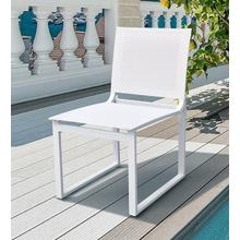 View Product - Renava Kayak - Modern Outdoor White Dining Chair (Set of 2)