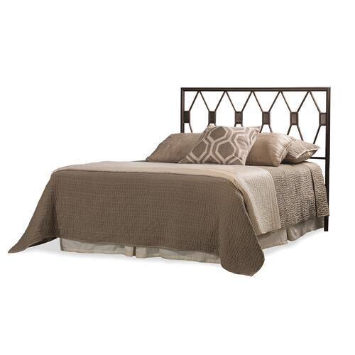 Tripoli King Headboard With Frame, Metallic Brown