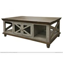 See Details - 4 Door, Cocktail Table, Gray finish