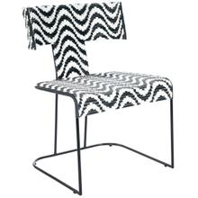 Bold an lively, this artistic lounge chair is your go to statement piece to draw all attention upon. The metal frame and water resistant PU Plastic rattan weave is yours to enjoy indoors and outdoors. This is the one chair your friends will be envious of you; it adds form, function and pattern to brighten up your home and your day! Just place alone as a statement piece or a set of four to have that great conversation area; that provides fun and enjoyment for all.