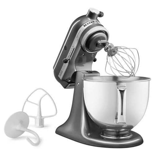 Artisan® Series 5 Quart Tilt-Head Stand Mixer Silver Metallic