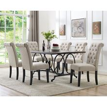 See Details - 7-piece Dining Set - Beige