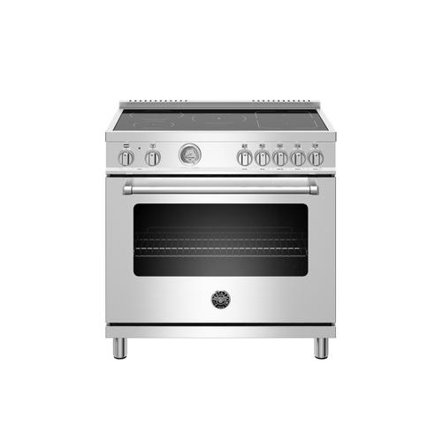 Bertazzoni - 36 inch Induction Range, 5 Heating Zones, Electric Oven Stainless Steel