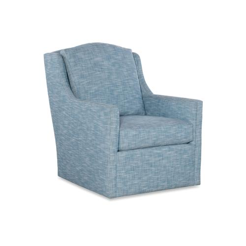 5799-T-S CARRIE TRACK ARM SWIVEL CHAIR