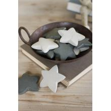 View Product - set of 6 hand carved stone stars \ dark grey