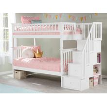 View Product - Columbia Staircase Bunk Bed Twin over Twin in White