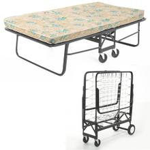"""View Product - Rollaway 1291 Folding Bed and 39"""" Fiber Mattress with Angle Steel Frame and Link Deck Sleeping Surface, 38"""" x 75"""""""