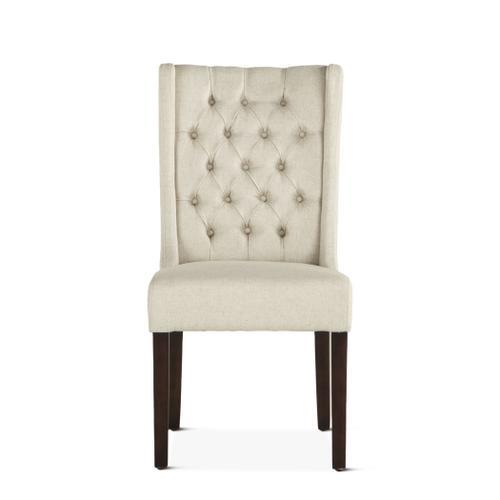 Lara Dining Chair Off-White with Dark Legs