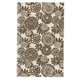 Flower Pop Chocolate - Rectangle - 5' x 8'