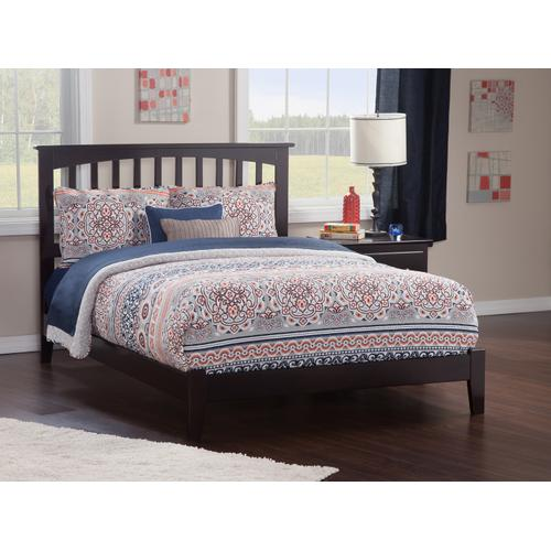 Mission King Bed in Espresso