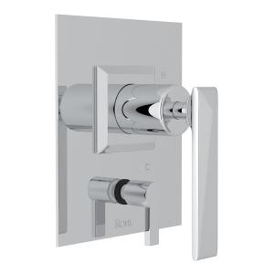 Polished Chrome Vincent Pressure Balance Trim With Diverter with Metal Lever Product Image