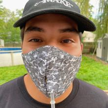 Product Image - Happy Hour Reusable Face Mask in Camo Charcoal