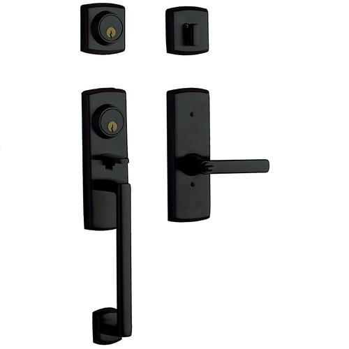 Satin Black Soho Two-Point Lock Handleset