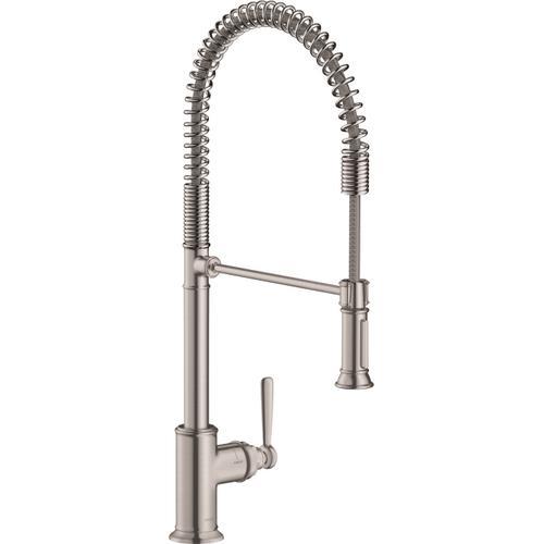 AXOR - Steel Optic Semi-Pro Kitchen Faucet 2-Spray, 1.75 GPM