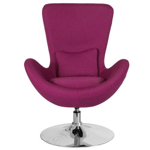 Magenta Fabric Side Reception Chair