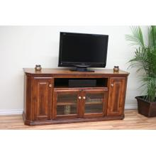 "A-TF299 Traditional Alder 65"" Clipped Corner TV Console"