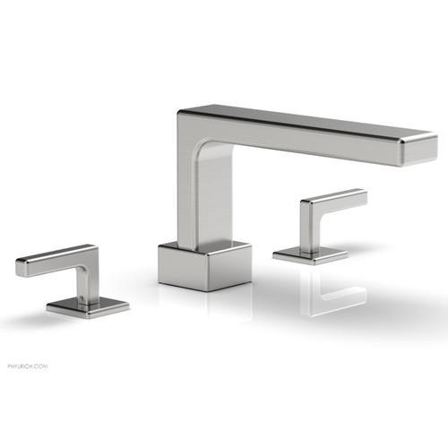 MIX Deck Tub Set - Lever Handles 290-41 - Satin Chrome
