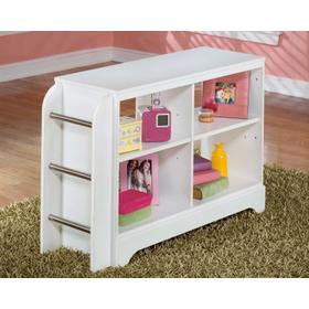 Lulu Loft Bookcase With Ladder White