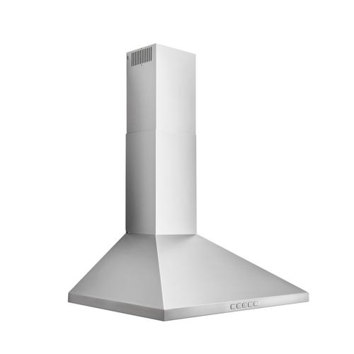 Broan® 24-Inch Convertible Wall-Mount Pyramidal Chimney Range Hood, 450 MAX CFM, Stainless Steel