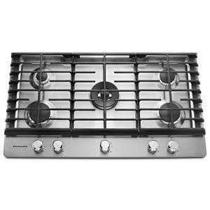 "KitchenAid36"" 5-Burner Gas Cooktop - Stainless Steel"