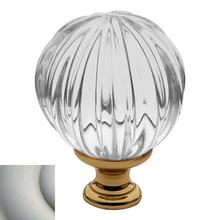View Product - Satin Nickel Crystal Cabinet Knob