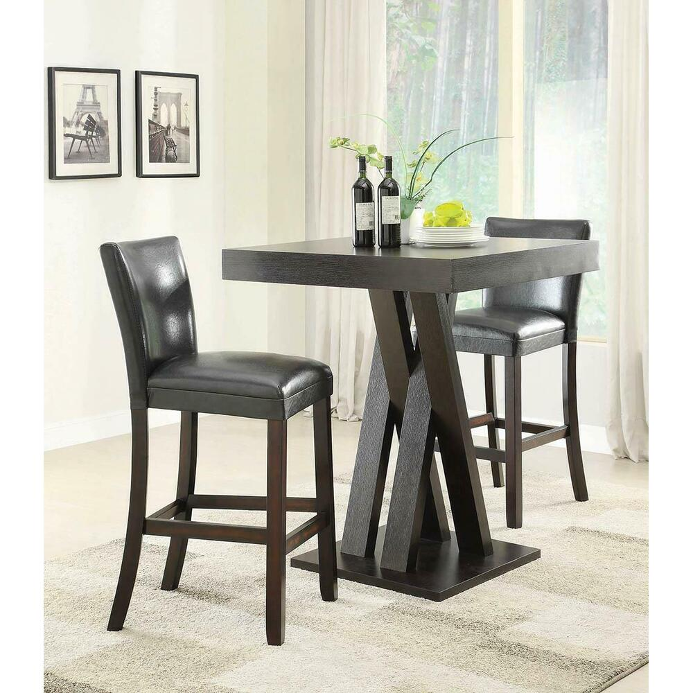 See Details - Modern Cappuccino Bar-height Stool