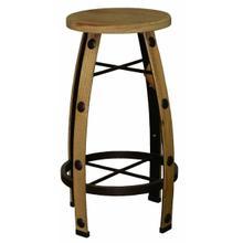 See Details - Iron & Wood Natural Barstool
