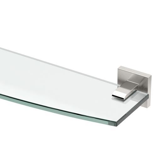 Elevate Glass Shelf in Satin Nickel