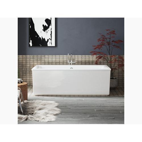 Matte Black Floor-mount Bath Filler Trim With Handshower