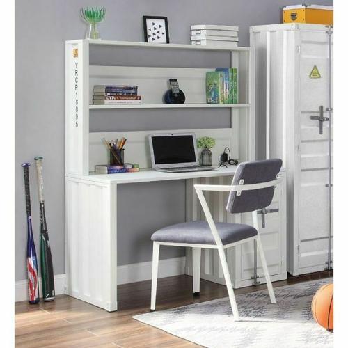 ACME Cargo Desk & Hutch - 37887 - White