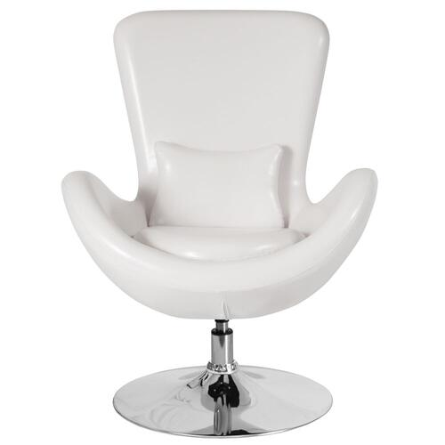 Alamont Furniture - White Leather Side Reception Chair
