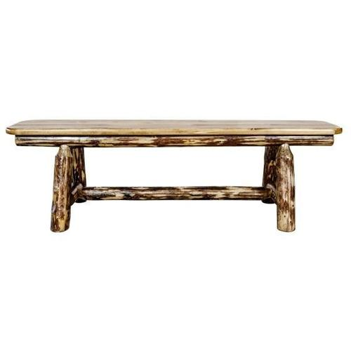 Glacier Country Collection Plank Style Bench