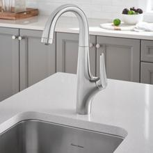 View Product - Avery Pull-Down Bar Faucet  American Standard - Stainless Steel