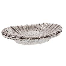 View Product - Metallic Silver Ribbed Ceramic Tray