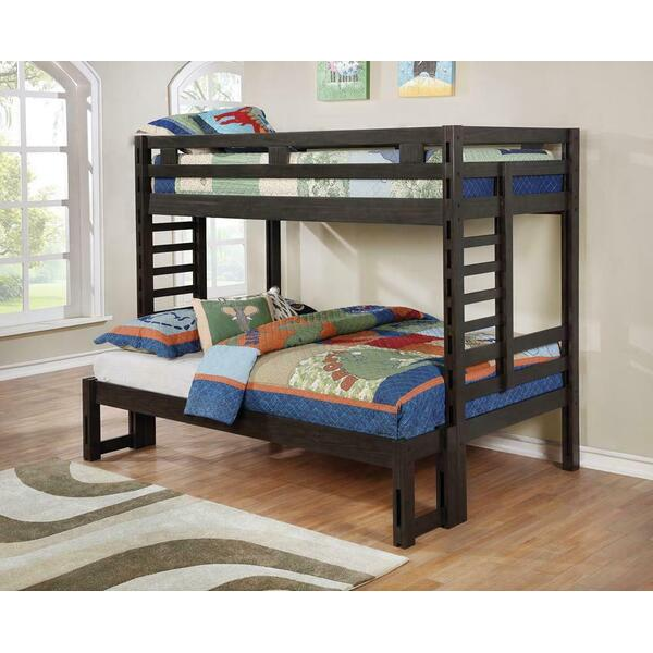 Hilshire Dark Grey Twin-over-full Bunk Bed
