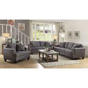 Samuel Charcoal Three-piece Living Room Set Product Image