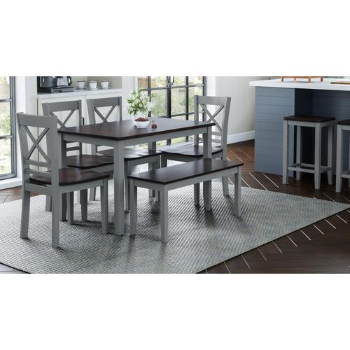 Jofran - Asbury Park 4 Pack - Table, (2) Chairs, Bench