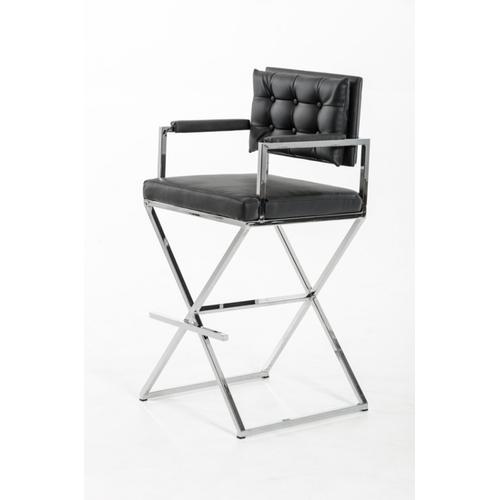 VIG Furniture - Modrest Coppola Modern Black Bar Stool