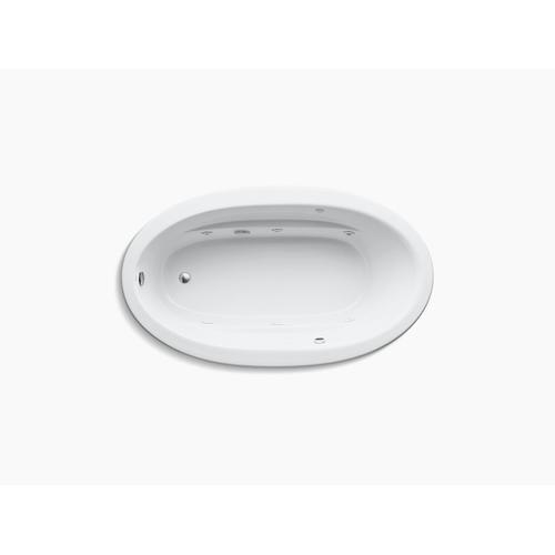 "White 72"" X 42"" Drop-in Whirlpool Bath With Bask Heated Surface and Reversible Drain"