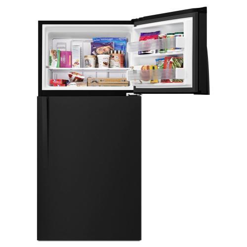 "Whirlpool® 30"" Wide Top-Freezer Refrigerator with LED Interior Lighting"